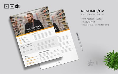 Mike Seattle - CV Resume Template