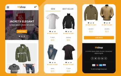 Mshop - eCommerce Mobile Website Template