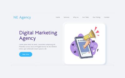 NE Agency Marketing Digital Landing Page template