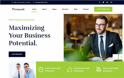 Premond - Business Consulting HTML Template
