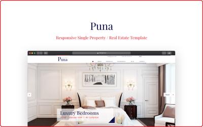 Puna - Responsive Single Property Website Template
