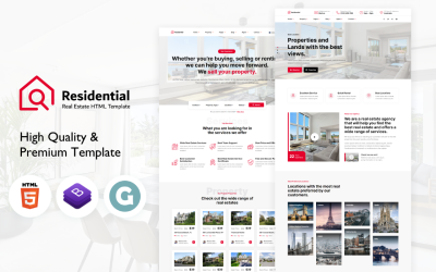 Residential – Real Estate HTML Website template