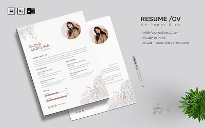 Slova Angelina - CV Resume Template