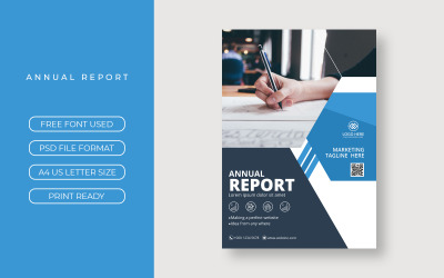 Business Annual Flyer Report Cover Presentation Theme