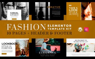 Fashion Spirit - Kit de modèles Elementor - Compatible WooCommerce (boutique en ligne) - 10 pages incluses