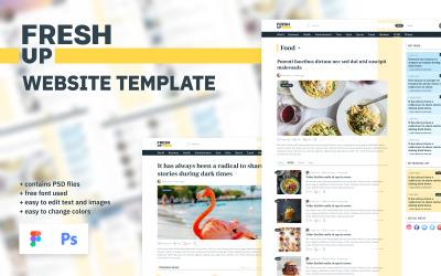 Fresh Up - News & Magazine Multipurpose Minimal Website UI Elements