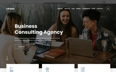 Malex - PSD šablona Business Consulting Agency