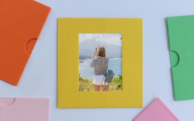 Photo Colorful Frame Product Mockup