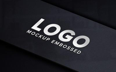 Realistic Silver Tag Logo Product Mockup