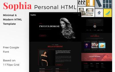 Sophia - Creative Personal Portfolio HTML Landing Page Template