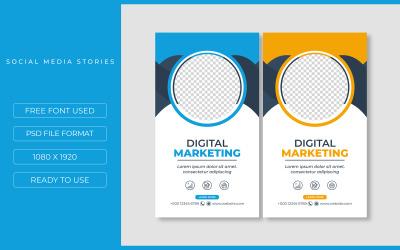 Two Instagram Stories Promotional Design for Social Media Template