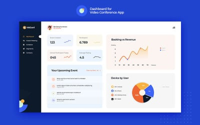 VidConf - Dashboard for Video Conferencing Applications UI Elements