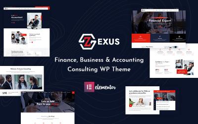Zexus - Tema de WordPress para empresas de contabilidad y consultoría