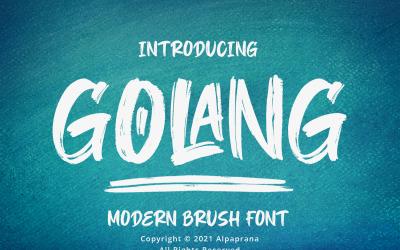 Golang - Modern Brush Fonts