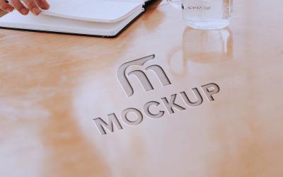 Logo Mockup on Debossed Effect Product Mockup