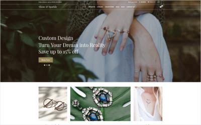 Shine & Sparkle - Ücretsiz Mücevher Shopify Teması