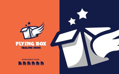 Abstract Magic Flying Box Logo template