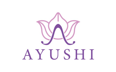 Ayushi Cosmetics & Herbals Logo Template