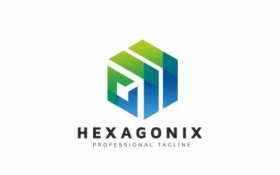 Hexagon Arrows Tech Logo Template