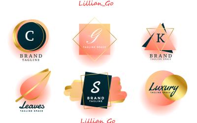 Luxury Logos Wedding Monograms Collection Design Logo template