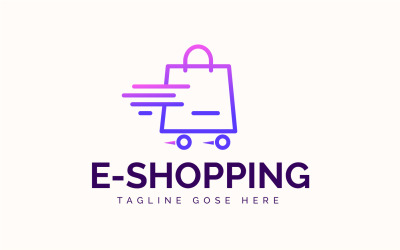 Modern Flat Shopping Blag Logo template
