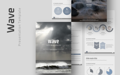 Wave Vertical PowerPoint Template