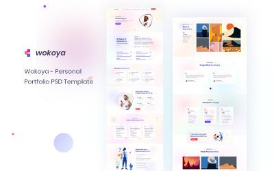 Wokoya |  Personal Portfolio PSD Template