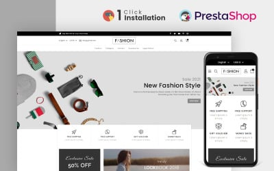 Divat- és kiegészítőkbolt Prestashop téma