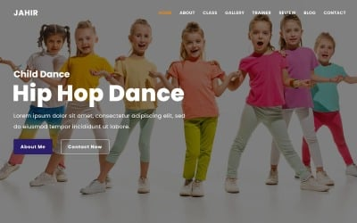 Manifesto - Dance School Landing Page Theme