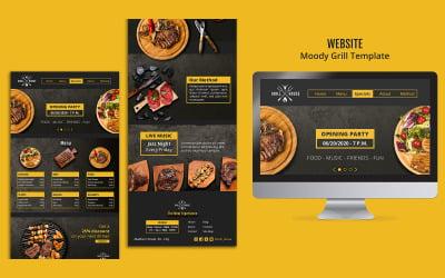 Modèle PSD de conception de page de destination Moody-Grill