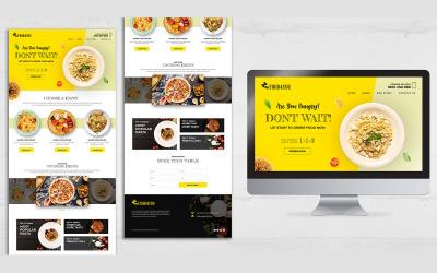 Modello PSD di progettazione della pagina di destinazione del ristorante di cibo italiano