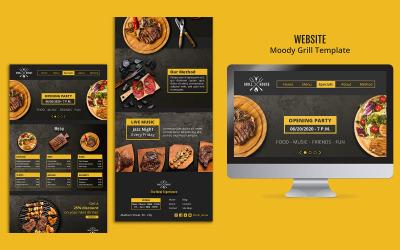 Modello PSD di progettazione della pagina di destinazione Moody-Grill
