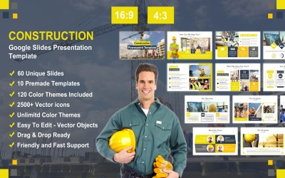 Plantilla de presentación de diapositivas de Google de construcción