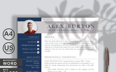 Alex Resume Template Word and Pages