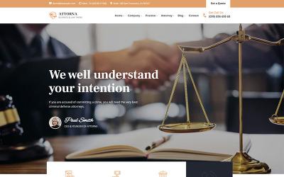 Attorna - téma WordPress pro právo, právníky a právníky