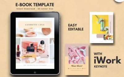 Cosmetic Make Up Tips eBook Keynote Template Presentation