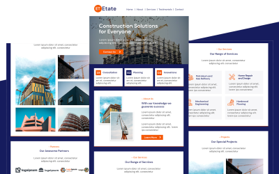 Etate - Multipurpose Construction Responsive Email Newsletter Template
