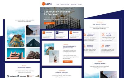 Etate - Többcélú építésre érzékeny e-mail hírlevél sablon