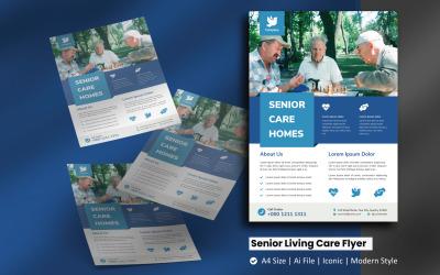 Senior Living Care Flyer Kurumsal Kimlik Şablonu