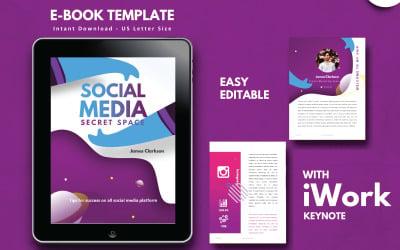 Social Media Marketing Tips eBook Template Keynote Presentation