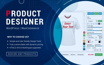 WooCommerce Product Designer Tool WordPress Plugin