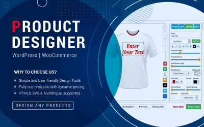 WordPress Plugin WooCommerce Product Designer Tool
