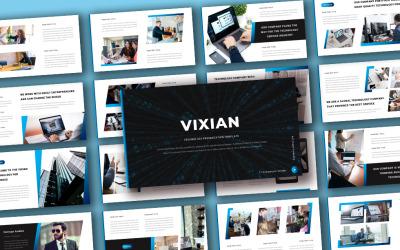 Vixian - Powerpoint-mall för företagsteknik