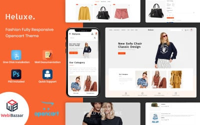 Heluxe - Fashion Store OpenCart Template
