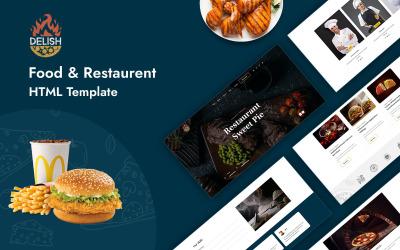 Free Delish - víceúčelová šablona HTML pro jídlo a restauraci