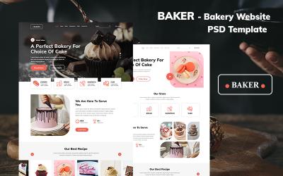 Modello PSD del sito Web di panetteria