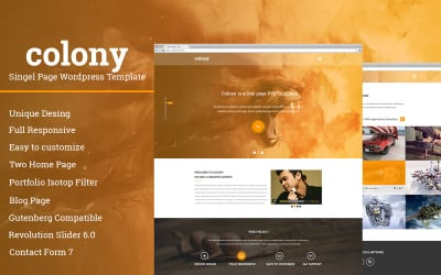 Colony Single Page Wordpress šablona