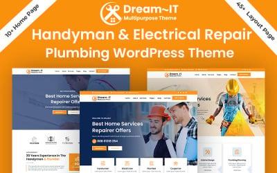 DreamIT Handyman Electrician & Plumbing Repair WordPress Theme