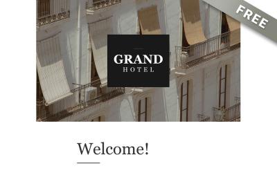 Grand - bezpłatny szablon biuletynu luksusowego hotelu