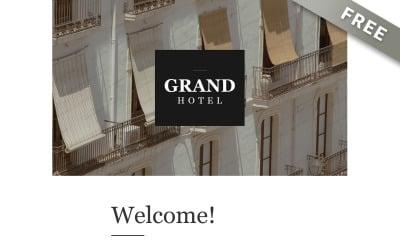 Grand - Free Luxury Hotel Newsletter Template
